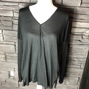 Vince Black Long Sleeve Drape Tee S